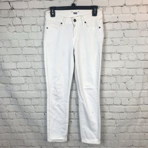 [PAIGE] White Kylie Crop Jeans